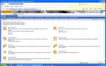 SAP Employee Menu