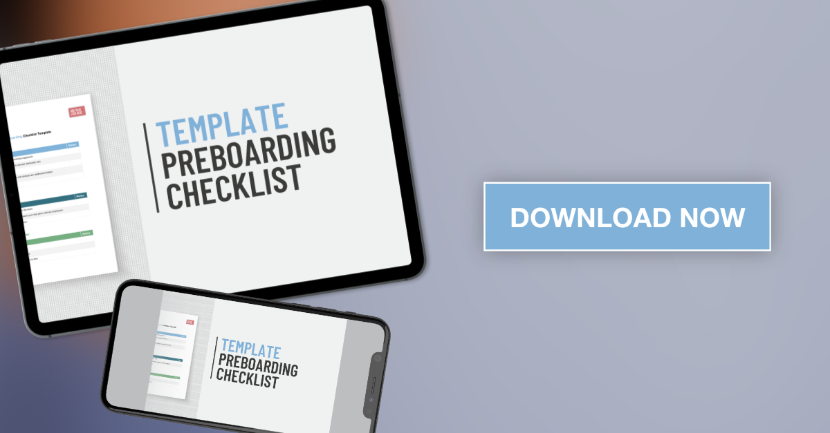 Applaud HR preboarding template checklist download graphic