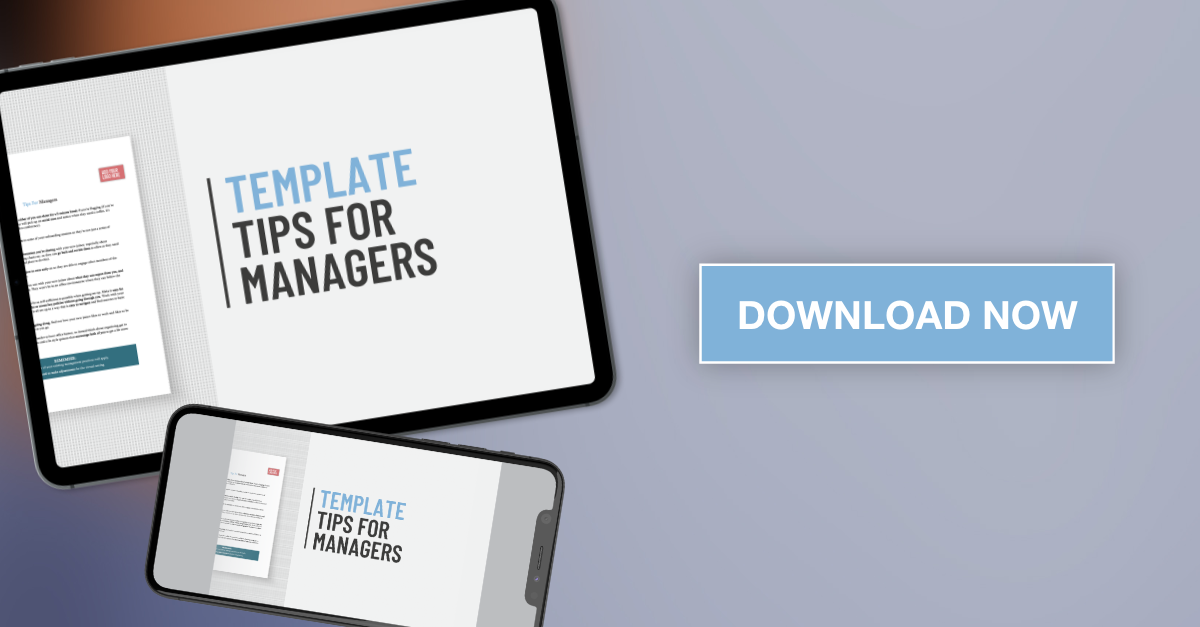 Applaud HR Tips for Managers Template download graphic