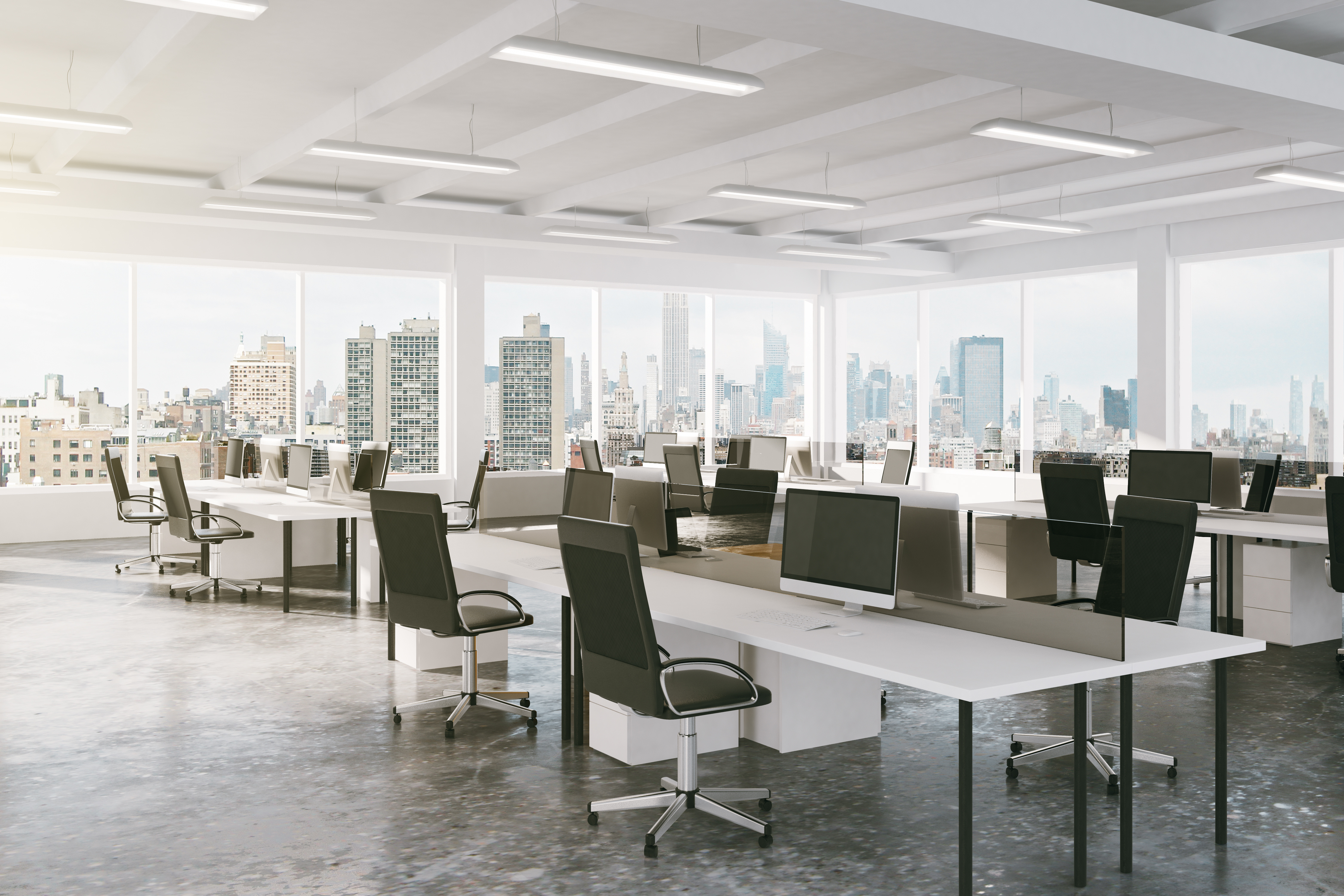 Empty office with HR systems prepared for future crises